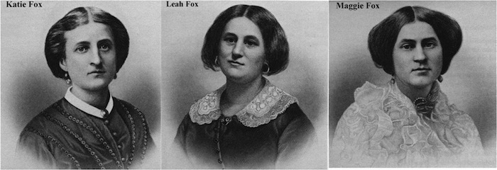 The popularizers of American Spiritualism, The Fox sisters.