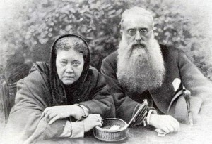 The founders of Theosophy, Madame H.P. Blavatsky and Colonel Henry Steel Olcott, 1888