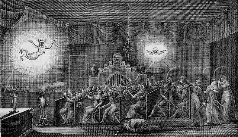 Robertson's phantasmagoria, Paris, 1797
